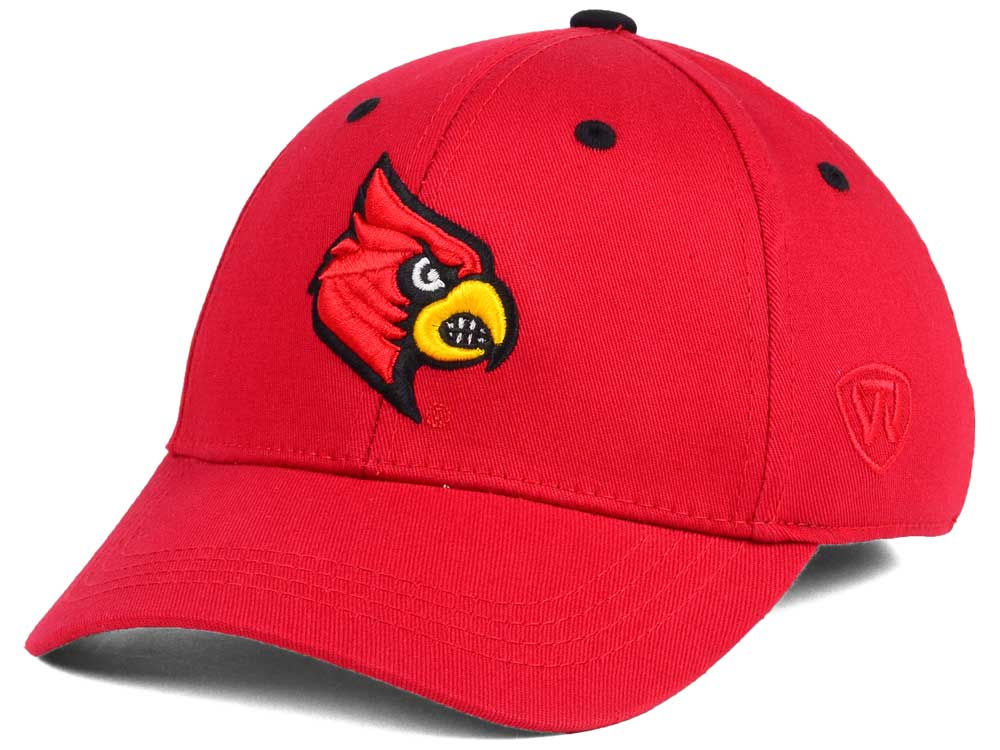 sports shoes bb29a 4c2ca ... spain louisville cardinals top of the world ncaa kids onefit cap lids  efeec bfe25