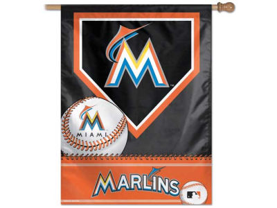 Miami Marlins 27X37 Vertical Flag