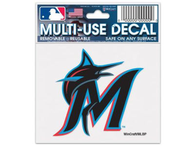 Miami Marlins Static Cling Decal
