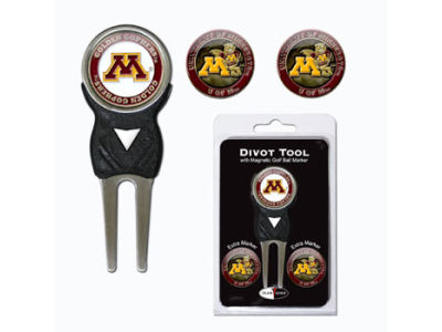 Minnesota Golden Gophers Divot Tool and Markers