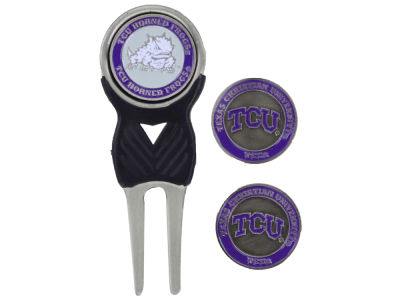 Texas Christian Horned Frogs Team Golf Divot Tool and Markers