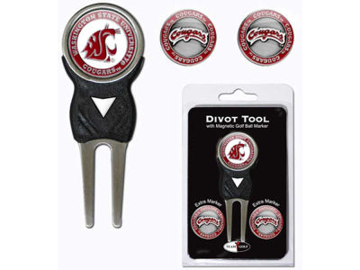 Washington State Cougars Divot Tool and Markers