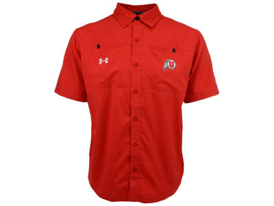 Utah Utes Under Armour NCAA Contender Button Down Shirt