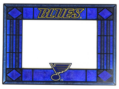 St. Louis Blues Art Glass Picture Frame