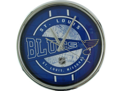 St. Louis Blues Chrome Clock