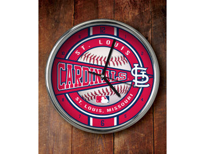 St. Louis Cardinals Chrome Clock