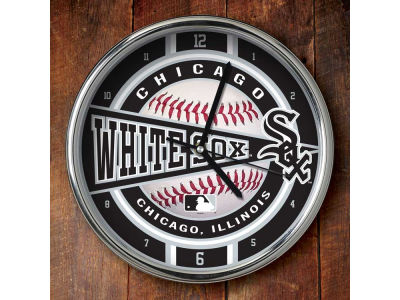 Chicago White Sox Chrome Clock