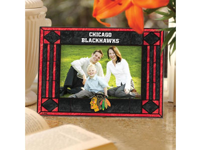 Chicago Blackhawks Art Glass Picture Frame