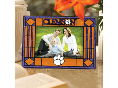 Clemson Tigers Art Glass Picture Frame
