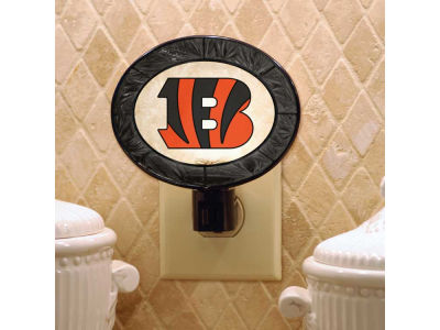 Cincinnati Bengals Art Glass Night Light