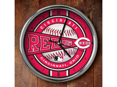 Cincinnati Reds Chrome Clock