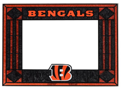 Cincinnati Bengals Art Glass Picture Frame