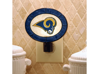St. Louis Rams Art Glass Night Light