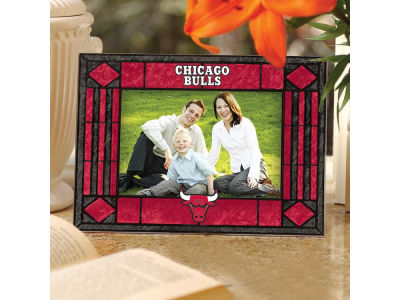 Chicago Bulls Art Glass Picture Frame