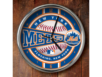 New York Mets Chrome Clock