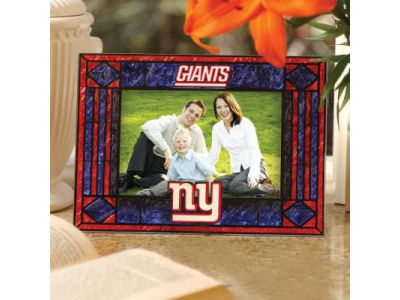 New York Giants Art Glass Picture Frame