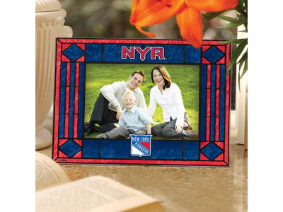New York Rangers Art Glass Picture Frame