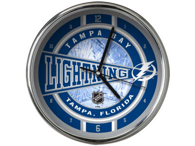 Tampa Bay Lightning Chrome Clock