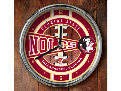 Florida State Seminoles Chrome Clock