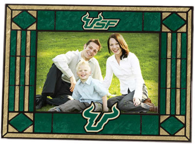 South Florida Bulls Art Glass Picture Frame