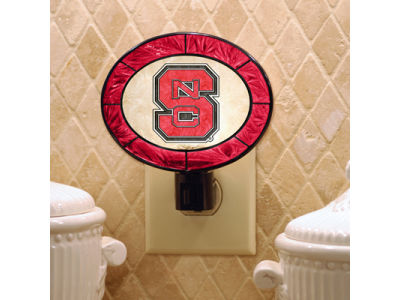North Carolina State Wolfpack Art Glass Night Light