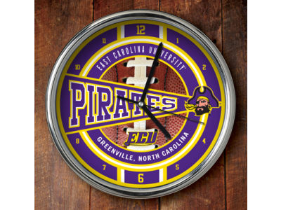 East Carolina Pirates Chrome Clock