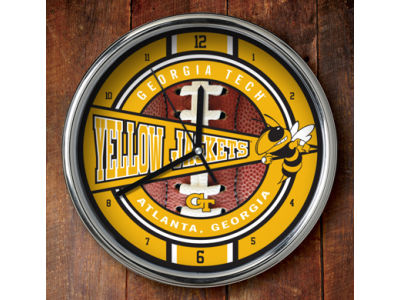 Georgia-Tech Chrome Clock