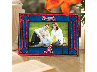 Atlanta Braves Art Glass Picture Frame