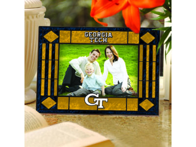 Georgia-Tech Art Glass Picture Frame