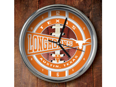 Texas Longhorns Chrome Clock