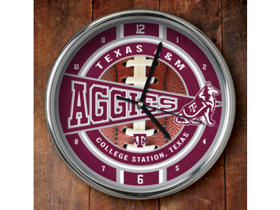 Texas A&M Aggies Chrome Clock