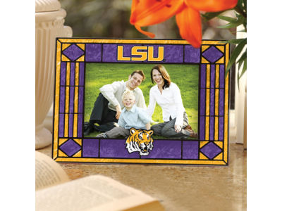 LSU Tigers Art Glass Picture Frame