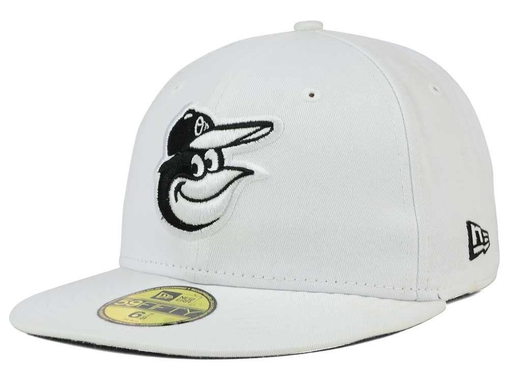Baltimore Orioles New Era MLB White And Black 59FIFTY Cap  766b655c7f46