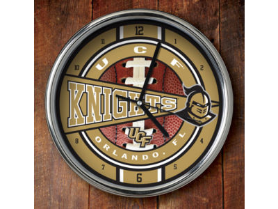 University of Central Florida Knights Chrome Clock