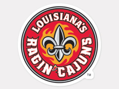 Louisiana Ragin' Cajuns 4x4 Die Cut Decal Color