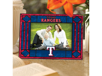 Texas Rangers Art Glass Picture Frame