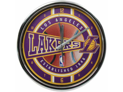 Los Angeles Lakers Chrome Clock