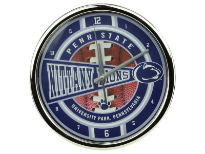 Penn State Nittany Lions Chrome Clock