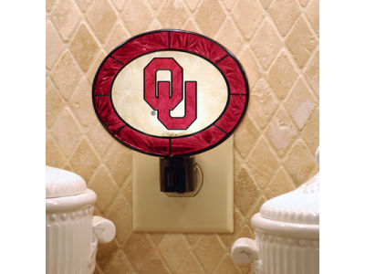 Oklahoma Sooners Art Glass Night Light