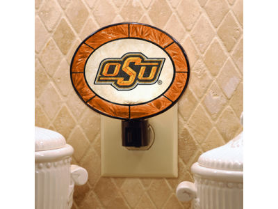 Oklahoma State Cowboys Art Glass Night Light