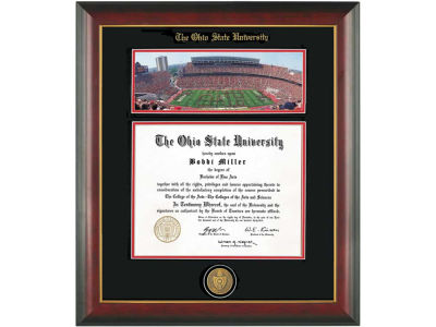 Ohio State Buckeyes Diploma Frame Mahogany With Gold Lip Photo