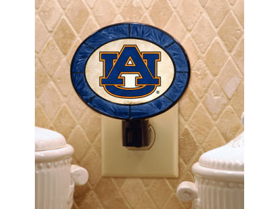Auburn Tigers Art Glass Night Light