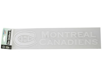 Montreal Canadiens Diecut Decal 4x17
