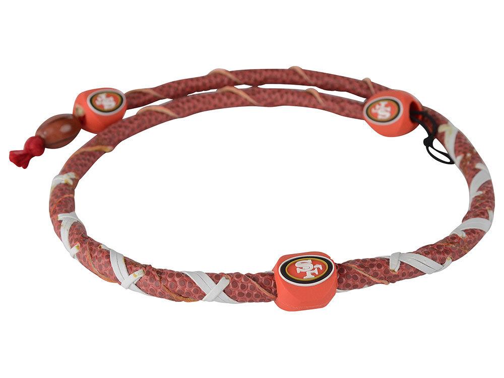 ff2691555 San Francisco 49ers Spiral Football Necklace-NFL