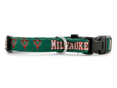 Milwaukee Bucks Medium Dog Collar
