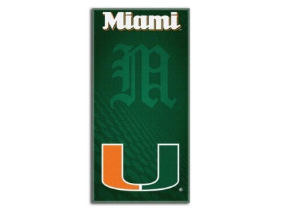 Miami Hurricanes Beach Towel Emblem