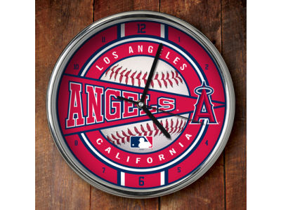 Los Angeles Angels Chrome Clock