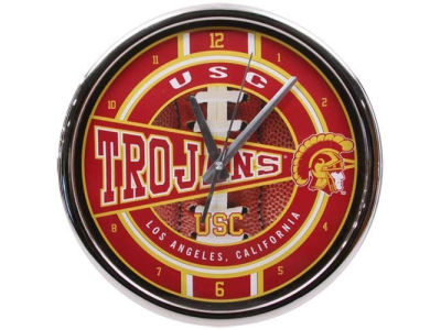 USC Trojans Chrome Clock