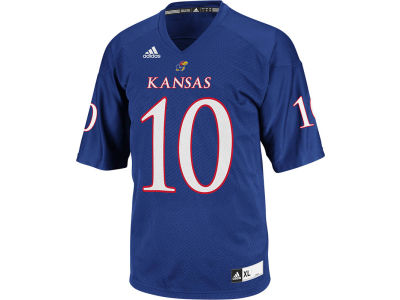Kansas Jayhawks KU #10 adidas NCAA Replica Football Jersey