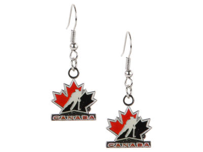 Canada Hockey Logo Dangle Pendant Earrings